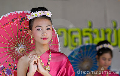 The annual Umbrella Festival in Chiang Mai Editorial Stock Image