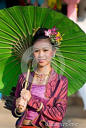 The annual Umbrella Festival in Chiang Mai Editorial Image