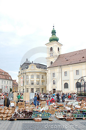 Annually pottery market in Sibiu 2010 Editorial Image