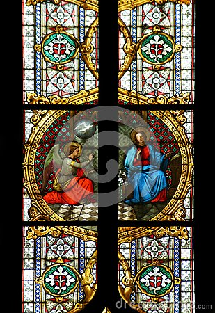 Free Annunciation Of The Virgin Mary Stock Image - 115056241
