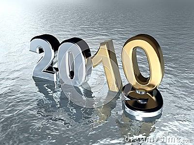 Ano Novo 2010 Fotografia De Stock Royalty Free