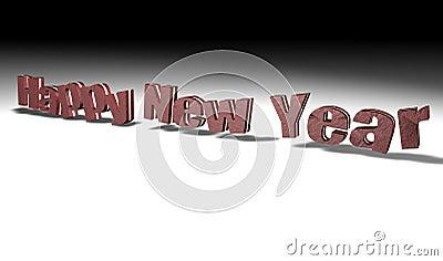 Ano novo feliz do chocolate