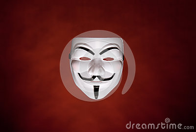Anonym fawkesgrabbmaskering Redaktionell Foto