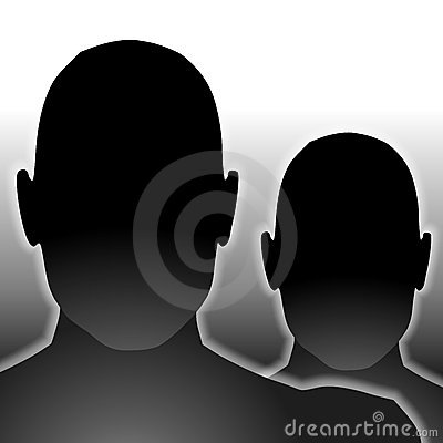 Anonymous Black Blank Faces