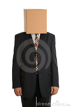 Anonymous Box man standing