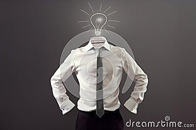 Anonymous man having an idea