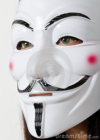 Anonymous mask Editorial Image