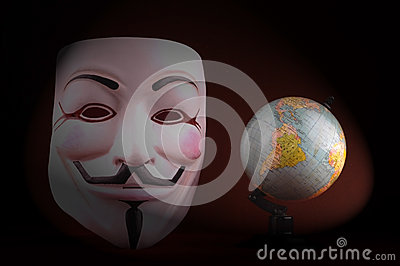 Anonymous mask (Guy Fawkes Mask) Editorial Stock Photo