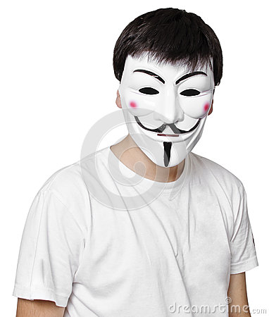 Anonymous mask Editorial Photo