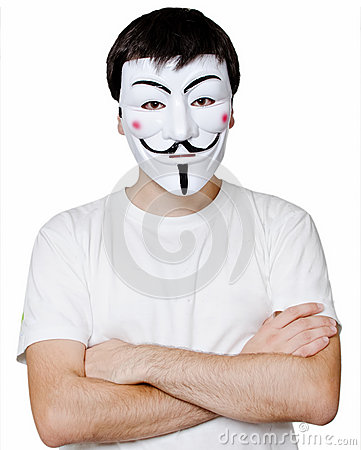Anonymous mask Editorial Stock Photo