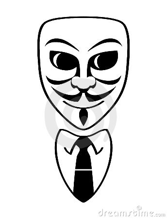 Anonymous symbol Editorial Stock Photo