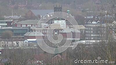 Ansicht der Kreisstadt von Stafford stock video footage