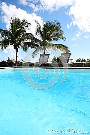 Ansicht des Swimmingpools