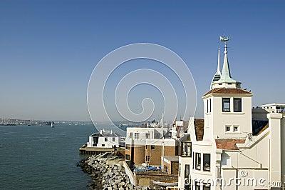 Ansicht vom quadratischen Kontrollturm, Portsmouth