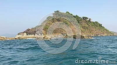 Ansicht von Boot zu Insel, Ngapali, Myanmar stock footage