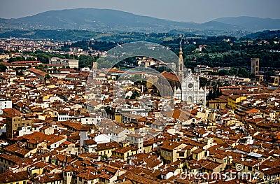 Ansicht von Firenze von der Haube