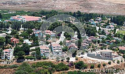 Ansicht von Metulla, Israel