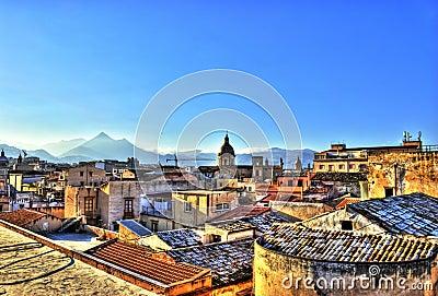 Ansicht von Palermo im HDR