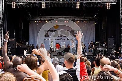 Anstieg-Festival, London. Juli 2008. Redaktionelles Foto