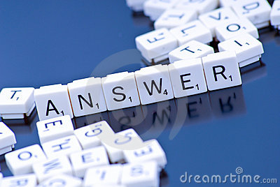 The Answer Stock Photo