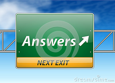 Answers Freeway Exit Sign