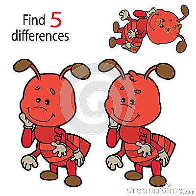 Ant game Vector Illustration