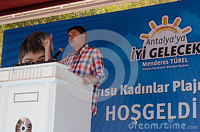 Antalya Mayor Menderes Türel Editorial Photo