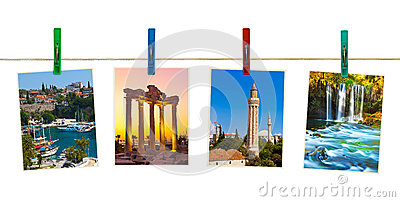 Antalya Turkey travel photography on clothespins