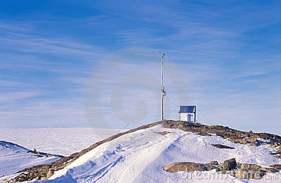 Antarctic Automatic Weather Station Royalty Free Stock Images - Image: 12981169
