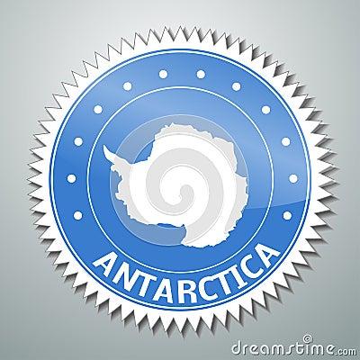 Antarctic flag label
