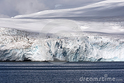 Antarctic glacier on the seaside