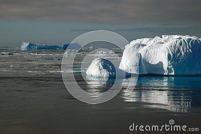 Antarctic iceberg in sunlight