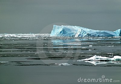 Antarctic iceberg in sunlight