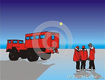 Antarctic snow tractor