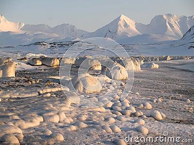Antarctic winter landscape