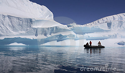 Antarctica - Adventure Tourists Editorial Stock Image