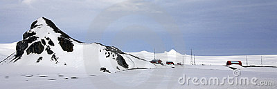 Antarctica - Argentine Scientific Research Base Editorial Stock Photo
