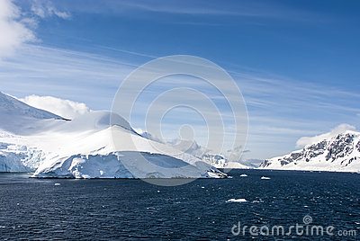 Antarctica -Fairytale landscape in a sunny day