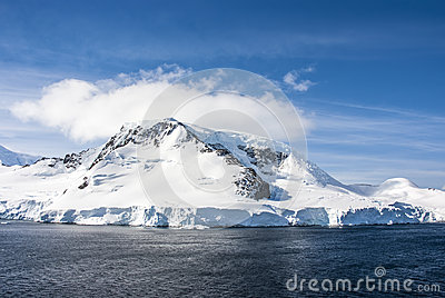 Antarctica - Fairytale landscape in a sunny day