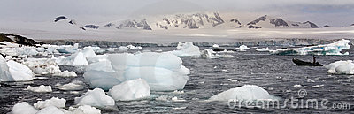 Antarctica - Half Moon Island - Sea Ice Editorial Stock Photo
