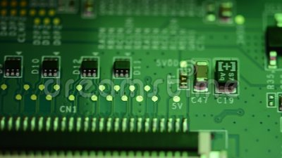Antecedentes técnicos. Procesador de comunicaciones integrado y tarjeta de circuitos electrónicos, tecnología de hardware infor almacen de metraje de vídeo