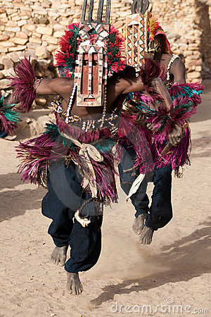 Free Antelope Mask And The Dogon Dance, Mali. Stock Image - 20776491