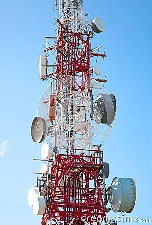 Antena de las comunicaciones