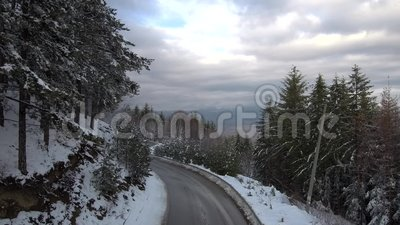 Antena: Komarnica Nad Śnieżną Halną drogą zdjęcie wideo
