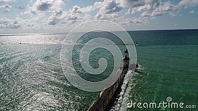 Antena latarnia morska 60fps i łódź zbiory