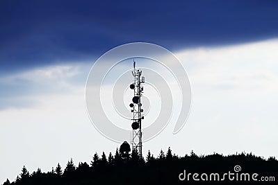 Antena over sunset