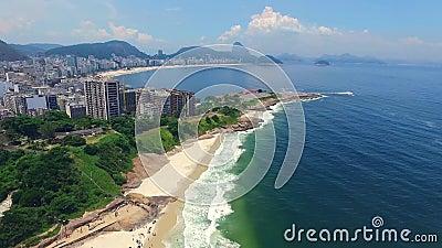 Antena: Rio De Janeiro i Atlantycki ocean Shevelev zdjęcie wideo