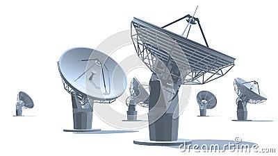 Antenas parabólicas ilustração do vetor