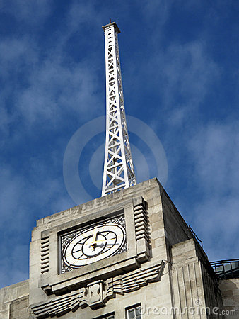 Antenna of the BBC Broadcasting House
