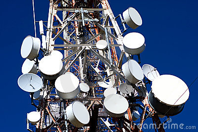 Antenna Drums on Mobile Phone Mast